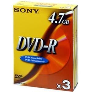 Sony DVD+R 4,7 GB 8x (10 pcs) Slim