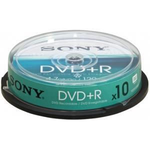Sony DVD+R 4.7 GB 16x (10 pcs cakebox)