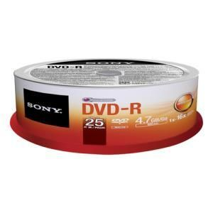 Sony DVD+R 4.7 GB 16x (25 pcs)