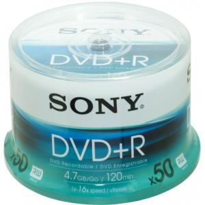 Sony DVD+R 4.7 GB 16x (50 pcs cakebox)