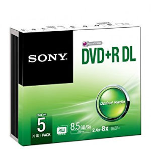 Sony DVD+R DL 8.5 GB (5 pcs)