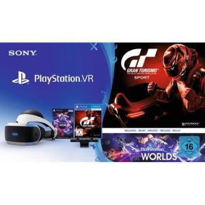 Sony PlayStation VR + PS Camera + PS VR Worlds + GT Sport