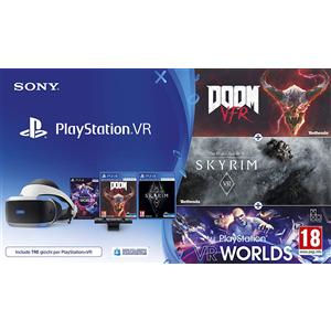 Sony PlayStation VR + VR Worlds + Skyrim VR + Doom VFR