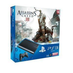 Sony ps3 super slim 500 gb p assassin s creed 3