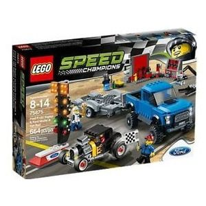 Lego Speed Champions 75875 Ford F-150 Raptor e Hot Rod Ford Model A