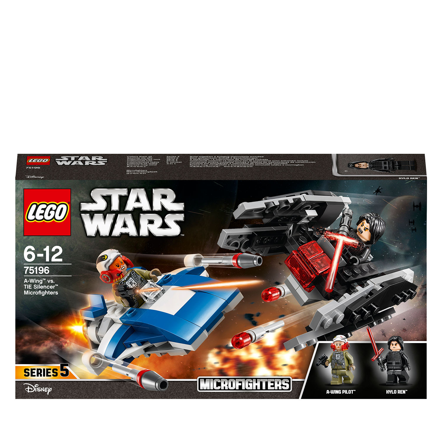 Lego Star Wars 75196 A-Wing contro Microfighter TIE Silencer