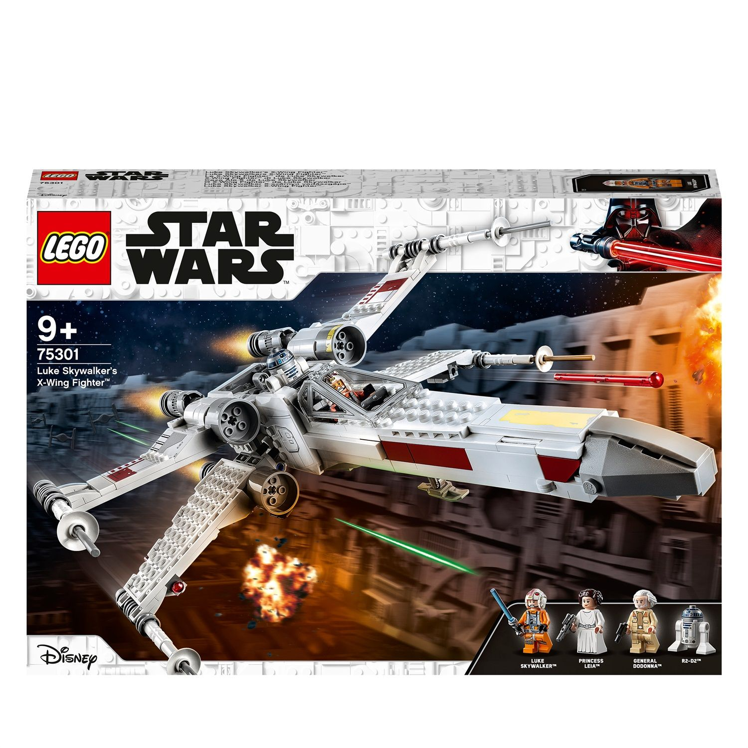 Lego Star Wars 75301 X-Wing Fighter di Luke Skywalker