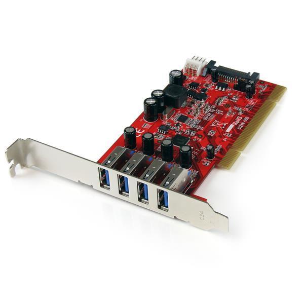 StarTech.com Scheda Pci 4 porte USB 3.0 (PCIUSB3S4)