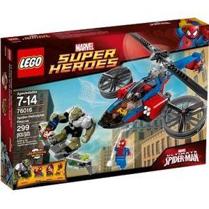 Lego Super Heroes 76016 Elicottero-ragno al salvataggio