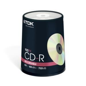 TDK CD-R 80 Min. 52x (100 pcs)