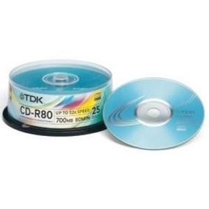 TDK CD-R 80 Min. 52x (25 pcs cakebox)