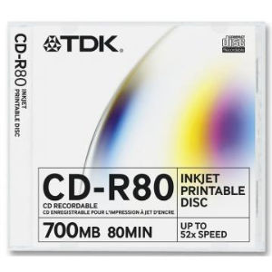 TDK CD-R 80 Min. Printable