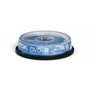 TDK DVD-R 4,7 GB 16x (10 pcs cakebox)