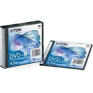 TDK DVD+R 4.7 GB 16x (10 pcs) Slim