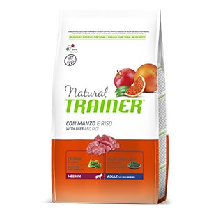 Trainer Natural Medium Adult cane (manzo riso ginseng) - secco