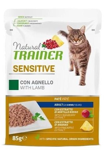 Trainer Natural Sensitive Adult Cat (Agnello) - umido 85g