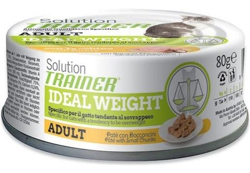 Trainer Solution Adult Patè con Bocconcini Ideal Weight (Tacchino) - umido