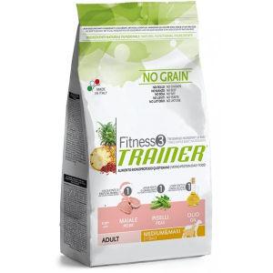 Trainer Fitness3 Adult Medium Maxi Cani (Maiale, Piselli, Olio) - secco