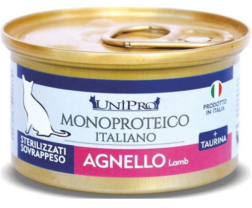 Unipro Monoproteico Unicamente Agnello per Gatti Sterilizzati o Sovrappeso - umido