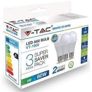 V-TAC VT-1900 LED 9W E27 Bianco