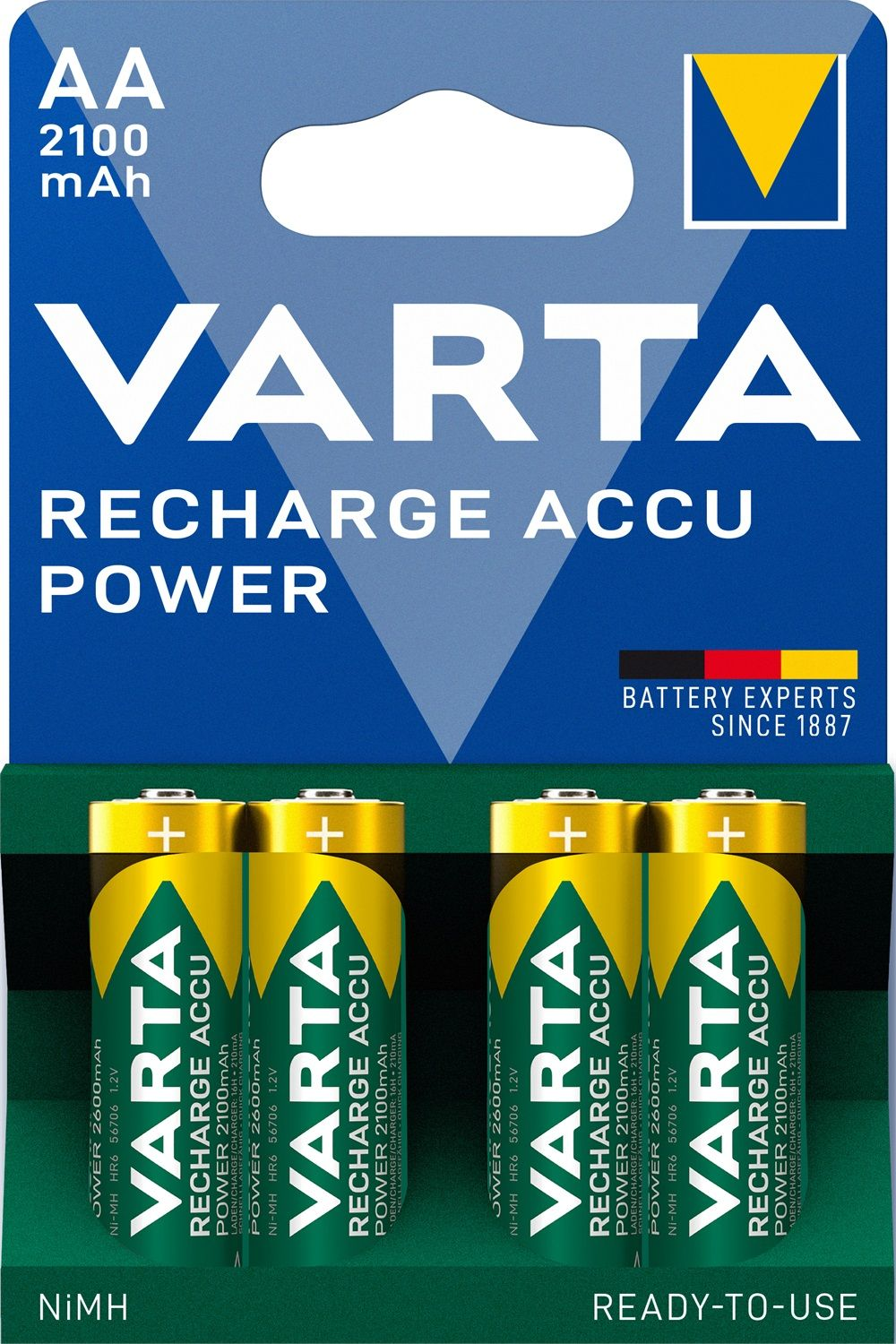 Varta Recharge Accu Power AA 2100 mAh (4 pz)