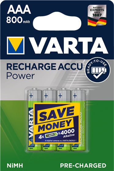 Varta Recharge Accu Power AAA 800 mAh (4 pz)