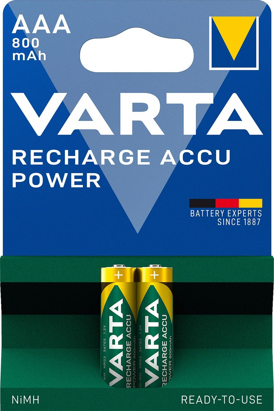 Varta Rechargeable Accu Ready To Use AAA (2 pz)