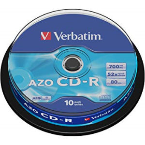 Verbatim AZO Crystal CD-R 80 Min. 52x (25 pcs) Cakebox