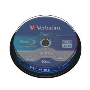 Verbatim BD-R DL 50 GB 6x (10 pcs cakebox)