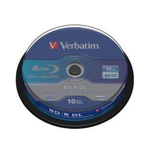 Verbatim bd r dl 50 gb 6x 10 pcs cakebox