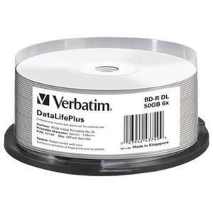 Verbatim BD-R DL 50 GB 6x Printable (25 pcs)