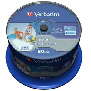 Verbatim BD-R SL 25 GB 6x (50 pcs spindle)