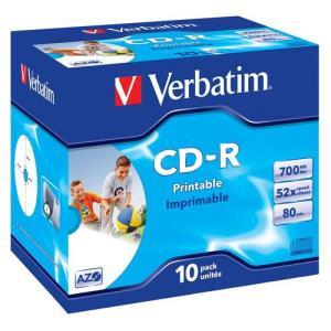 Verbatim CD-R 80 Min. 52x Printable (10 pcs)