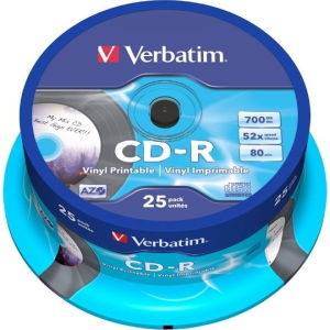 Verbatim CD-R 80 Min. 52x Printable (25 pcs)