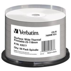 Verbatim CD-R 80 Min. 52x (50 pcs cakebox) Printable