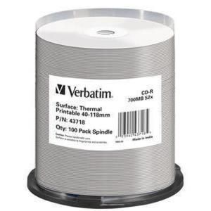 Verbatim CD-R 80 Min. 52x Printable (100 pcs)