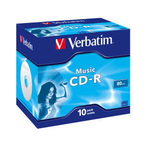 Verbatim CD-R 80 Min. Music Live It (10 pcs)