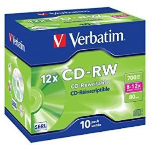 Verbatim cd rw 80 min 12x 10 pcs