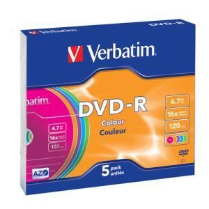 Verbatim Colours DVD-R 4.7 GB 16x (5 pcs)
