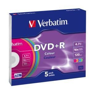 Verbatim Colours DVD+R 4.7 GB 16x (5 pcs)