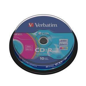 Verbatim data cd r 210 mb 24x 10 pcs cakebox