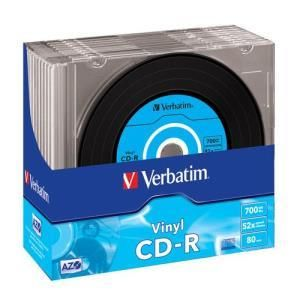 Verbatim Data Vinyl CD-R 80 Min. 52x (10 pcs)