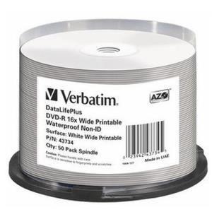 Verbatim datalifeplus dvd r 4 7 gb 16x 50 pcs printable