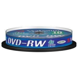 Verbatim datalifeplus dvd rw 4 7 gb 4x 10 pcs cakebox