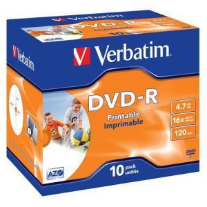 Verbatim dvd r 4 7 gb 16x 10 pcs