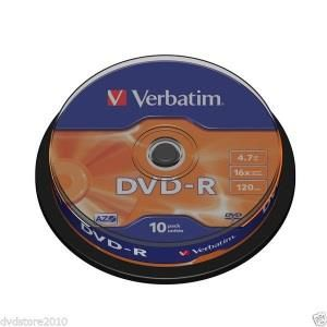 Verbatim DVD-R 4.7 GB 16x (10 pcs cakebox)