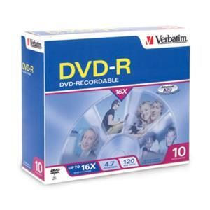 Verbatim DVD-R 4.7 GB 16x Printable (10 pcs)