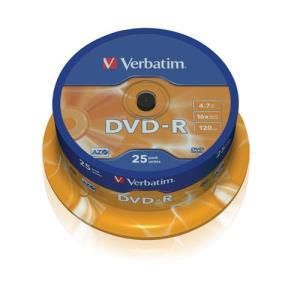Verbatim DVD-R 4.7 GB 16x (25 pcs cakebox)