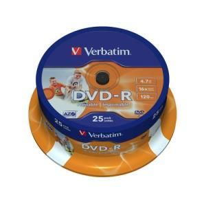 Verbatim DVD-R 4.7 GB 16x Printable (25 pcs)