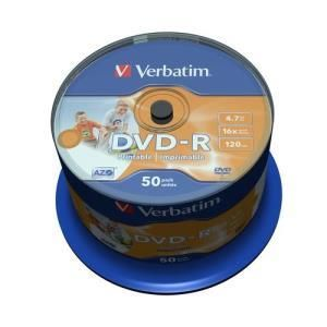 Verbatim DVD-R 4.7 GB 16x Printable (50 pcs)